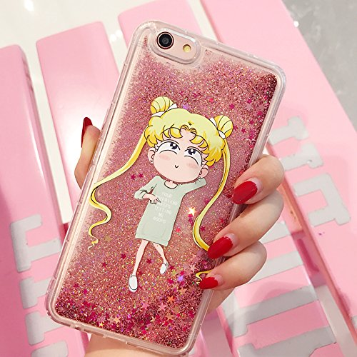 official photos 9b47c f87d3 Pink Glitter Flowing Sailor Moon Case for iPhone 6Plus 6sPlus 6+ 6s+ Large  Size 5.5