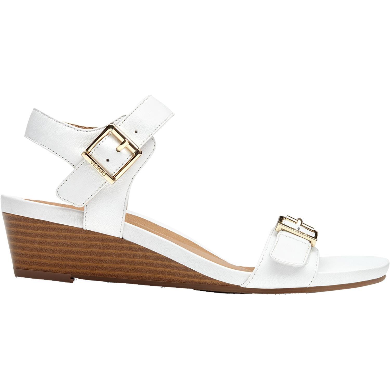 Vionic Port Frances - Womens Demi- Wedge Sandal White - 7.5 Medium