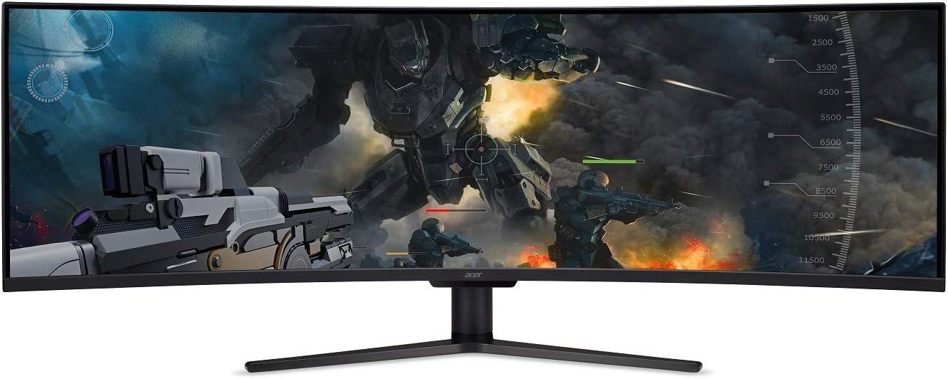 "Acer EI431CR Pbmiiipx 43"" 1800R Curved DWFHD (3840 x 1200) VA Gaming Monitor with AMD Radeon FreeSync Technology, 120Hz, VESA Certified DisplayHDR400, DCI-P3 (Display Port & 3 x HDMI Ports)"