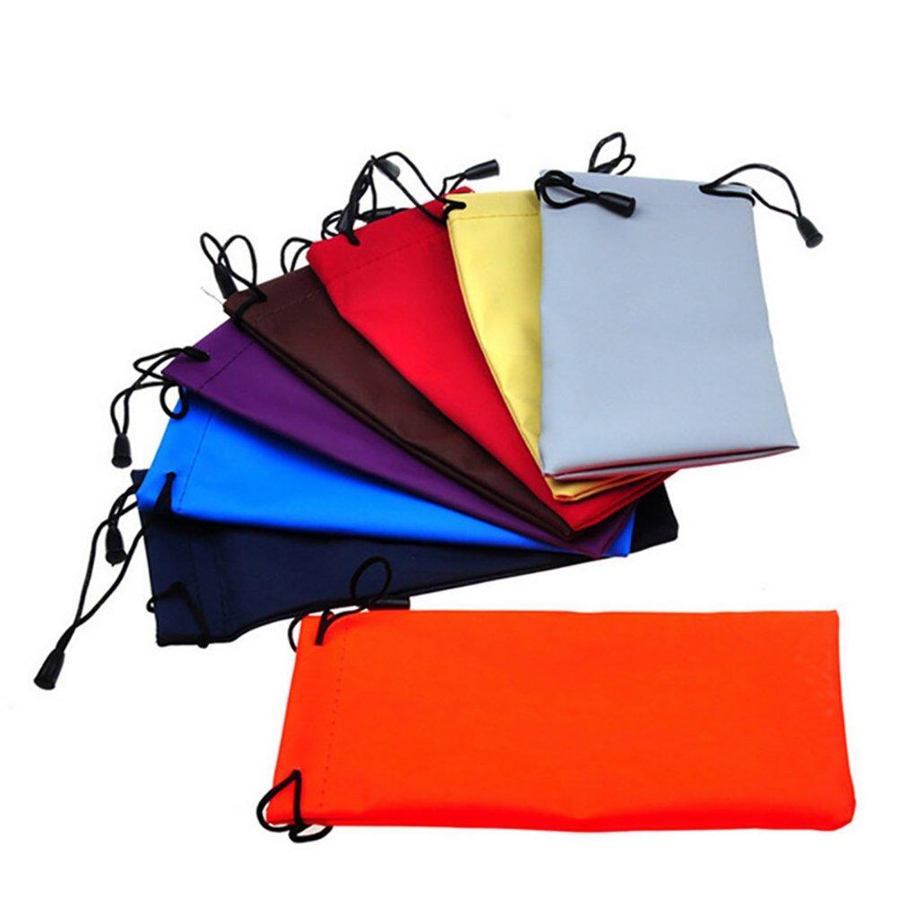 Color al azal Leisial 10pcs Impermeable Bolsa Gafas de Sol PU Estuche Gafas de Sol Funda Protectora para Guarda Gafas Tel/éfono M/óvil Joyer/ía para Hombres Mujeres