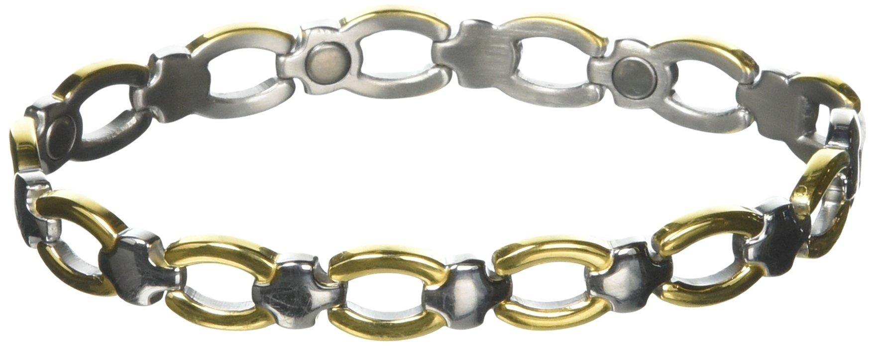 Sabona Ladies' Classic Casual Magnetic Bracelet, L/XL, 1 Ounce