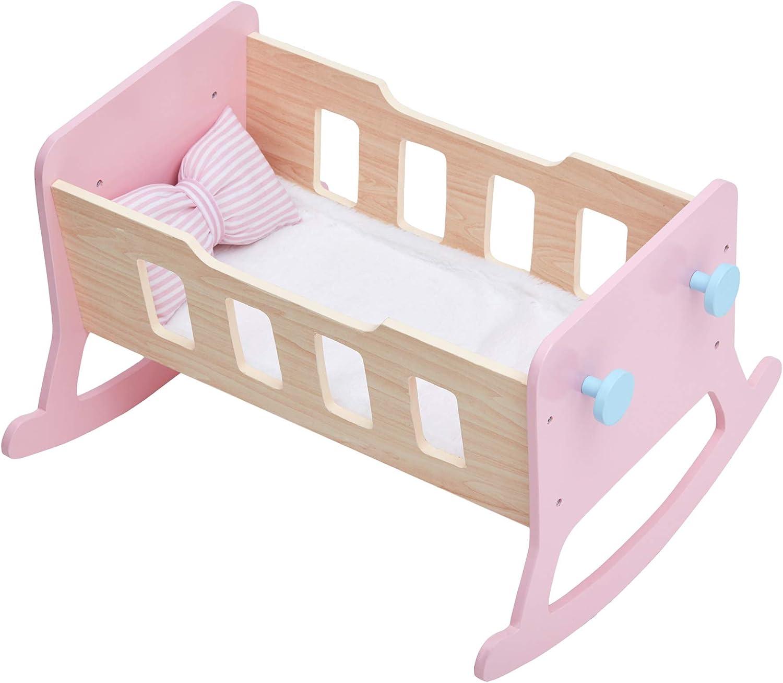 Olivias Little World TD-12865A Doll Cradle Pink