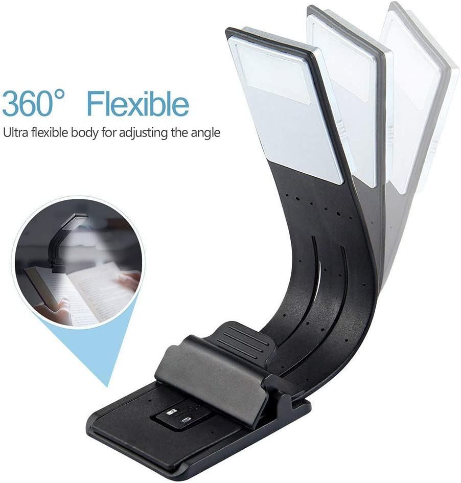 Libro luz LED lampara de lectura recargable,LUXJET® Clip Luz de ...