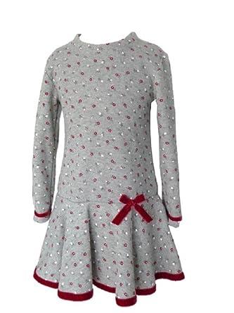 db82b3eb6f3fe Trocadero - Mode für Kinder - Robe - À Fleurs - Manches Longues - Fille   Amazon.fr  Vêtements et accessoires