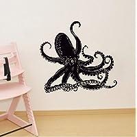 Mural Saying Wall Decal Sticker Art Mural Home Decor Quote Octopus Kraken Ocean Marine Animals Bathroom Art