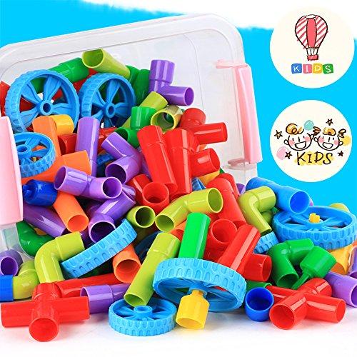 Tube Pipeline Building Blocks DIY Learning /& Educational Toys For Kids 72pcs