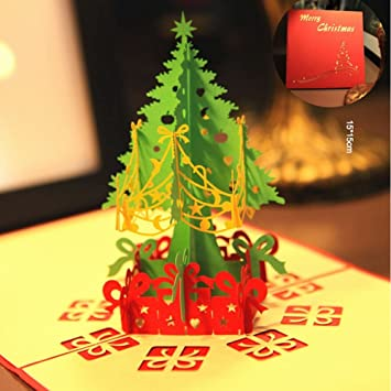 Moresave 3d pop up christmas tree greeting cards christmas greeting moresave 3d pop up christmas tree greeting cards christmas greeting holiday cards gifts for xmas m4hsunfo
