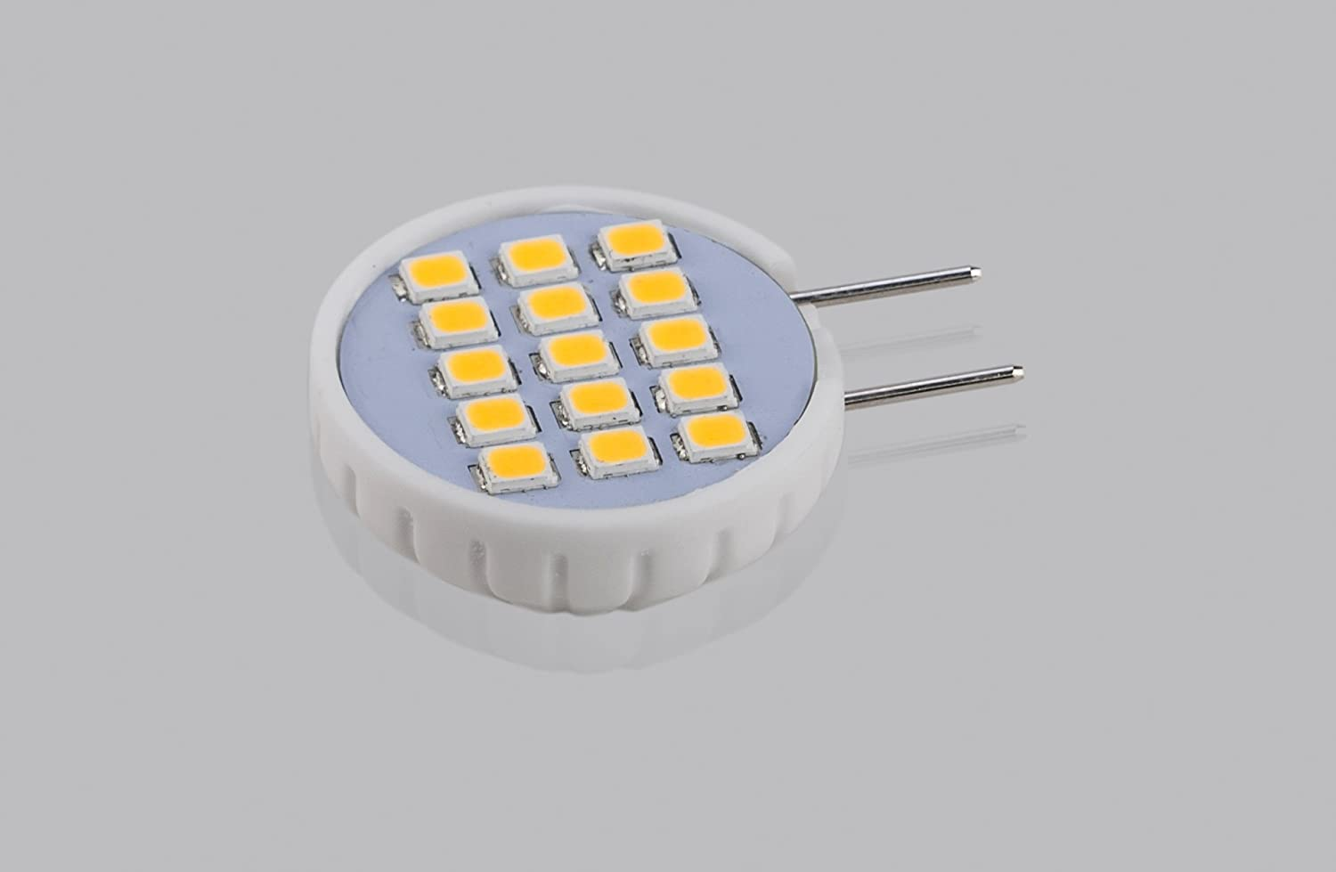 10 Pack 1.6 Watt 20W Equivalent,Under Cabinet,Counter Puck Kitchen Warm White 3000K 180 DegreeBeam Angle CBconcept UL Listed SidePin G8 LED Light Bulb 200 Lumen Ceramic Sunflower NOT Dimmable