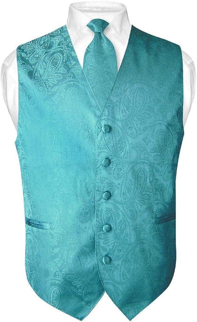 Vesuvio Napoli De Hombre diseño de Paisley Vestido Chaleco y ...