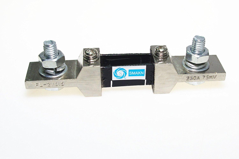 SMAKN® FL-2 250A 75mV DC Current Shunt Resistor for Amp Ampere panel meter