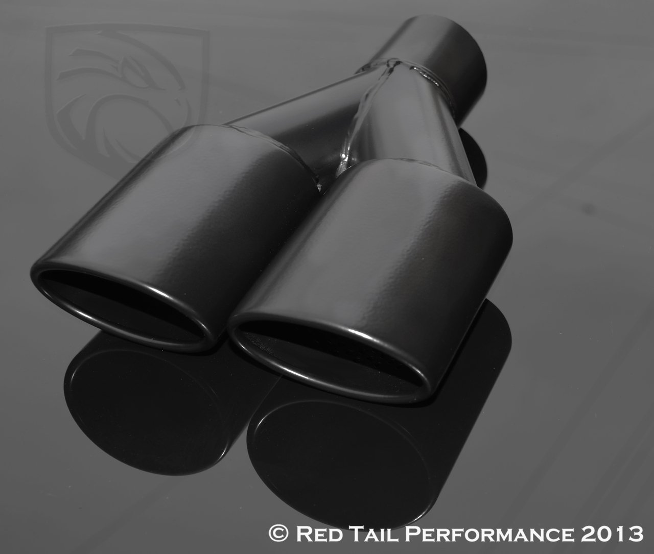 Black Powder Coated AMG Style Exhaust Muffler Tip Dual Oval Forward Slash Cut Rolled Edge 2.25'' Inlet / ID, 3.5''X2.5'' Outlet / OD, 9.75'' Length, 7.375'' Outer Width