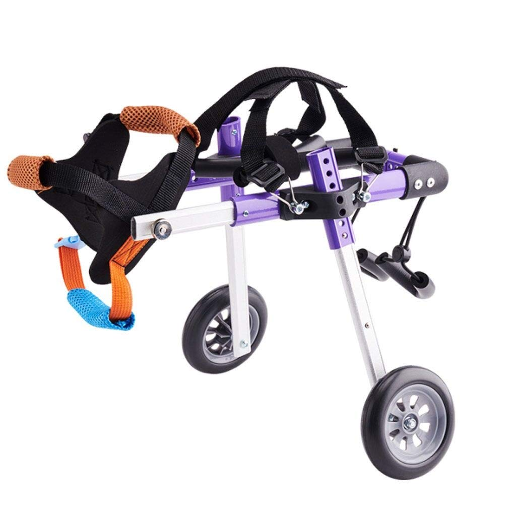 YING Dog Wheelchair for Back Legs Dog Mobility Harness Wheelchair Dog Wheelchair Hind Limbs Two-Wheel Rehabilitation Exercise Disabled Scooter Gear Adjustment Aluminum Pet Pet Wheelchair (Size : S) by YING