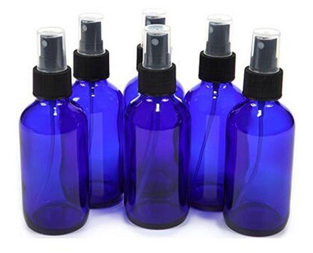6PCS 30ML Blue Plastic Empty Spray Bottle Atomizer With Black Fine Mist Sprayers For Essential Oil Perfume ASTRQLE