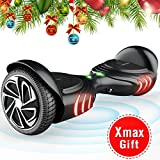 TOMOLOO Hoverboard and Smart Scooter Two-Wheel Self Balancing Electric Scooter with Light - Black Hover Board with UL2272 Certified for Battery Protection…