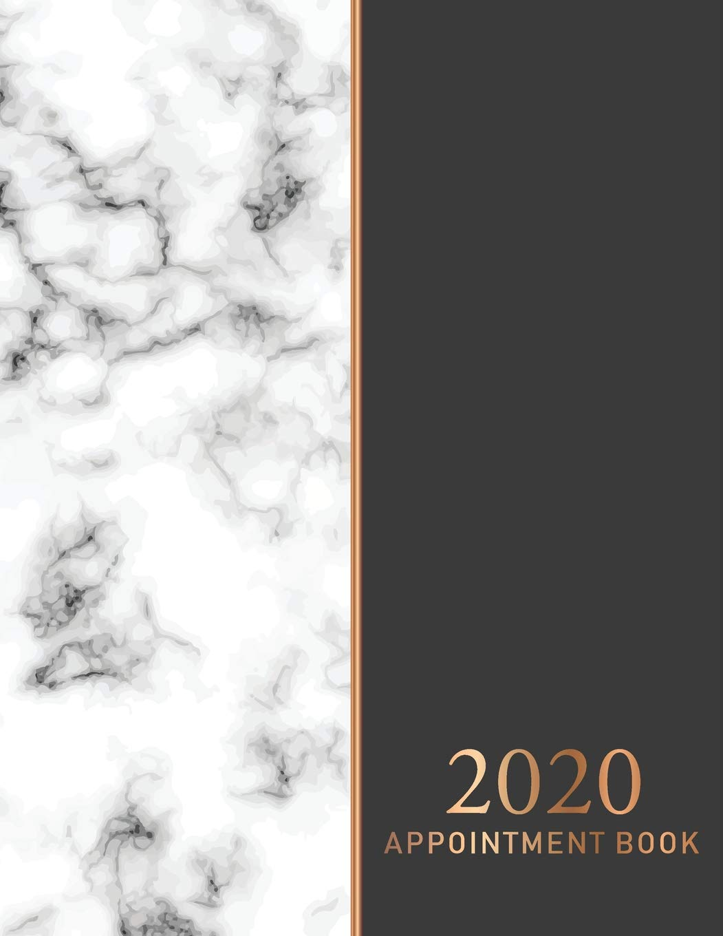 2020 Appointment Book: Elegant Marble Cover | 52 Weeks Daily ...