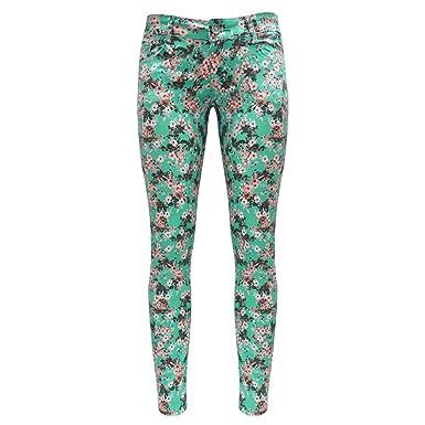 anerkannte Marken moderne Techniken Bestellung Trend4You Damen Hose mit Floralem Muster (38): Amazon.de ...