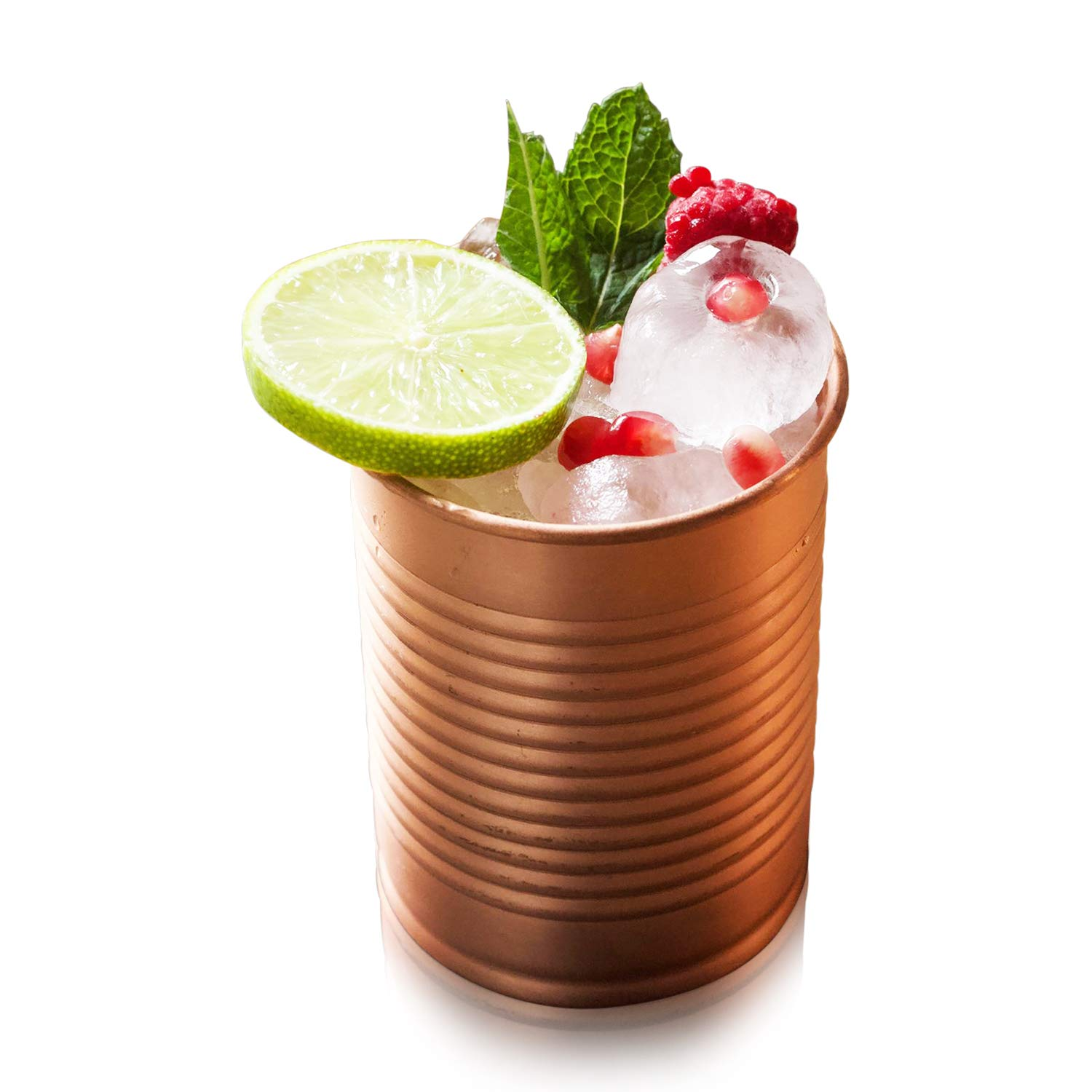 Kosdeg Copper Cocktail Tins Set of 2 12oz - Chosen By Professional Bartenders - Bean Tin Design - Perfect Copper Mug Bar Set for Better Drinks - Ice Cold In Seconds