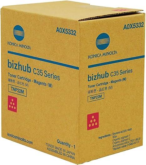 BizHub C35P Replacement Magenta Toner for Konica Minolta A0X5332 TNP22M BizHub C35