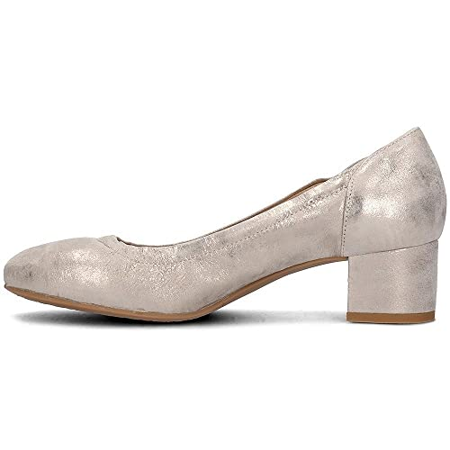 Made Donna Pelle amp;CO 11643 Taupe Tacco IGI Scarpa Basso in Decollete' 1Oaz8qx