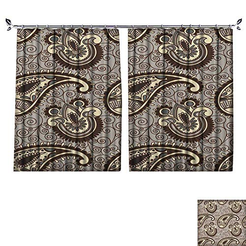 The Shade Block Ultraviolet Hand Draw Ornate Seamless Flower Paisley Design Background for Bedroom, Living Room, for Shade. W96 x L108