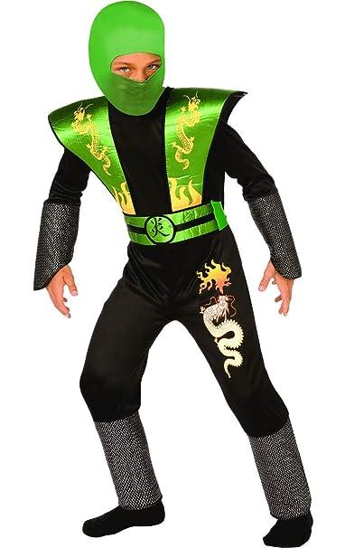 Ninja Samurai guerrero, Traje para niños, Disfraz, Verde ...