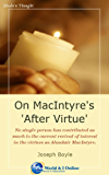 On MacIntyre's 'After Virtue'