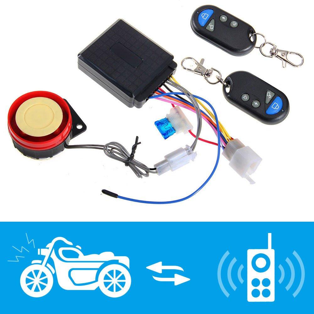 Shsyue Sistema de Alarma de la Motocicleta Antirrobo de Seguridad de Control Remoto Sirena 125dB