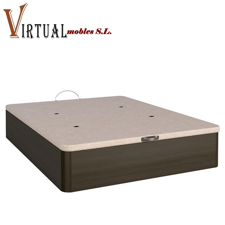 VIRTUALMOBLES CANAPÉ ABATIBLE EBRO DE Gran Capacidad Tapa 3D DE 135X190: Amazon.es: Hogar