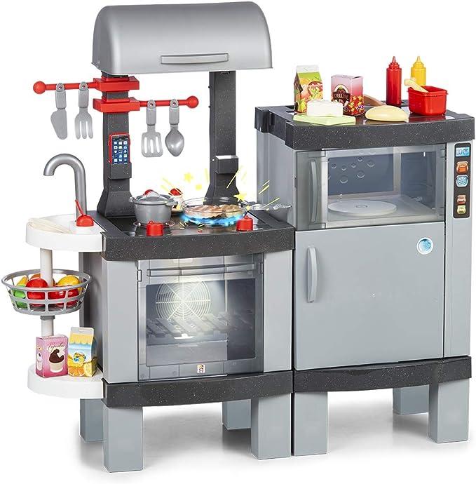 Chicos Cooking Plus 2en1 Barbacoa Infantil con Efecto de Cocina Real: Los Alimentos cambian de Co...