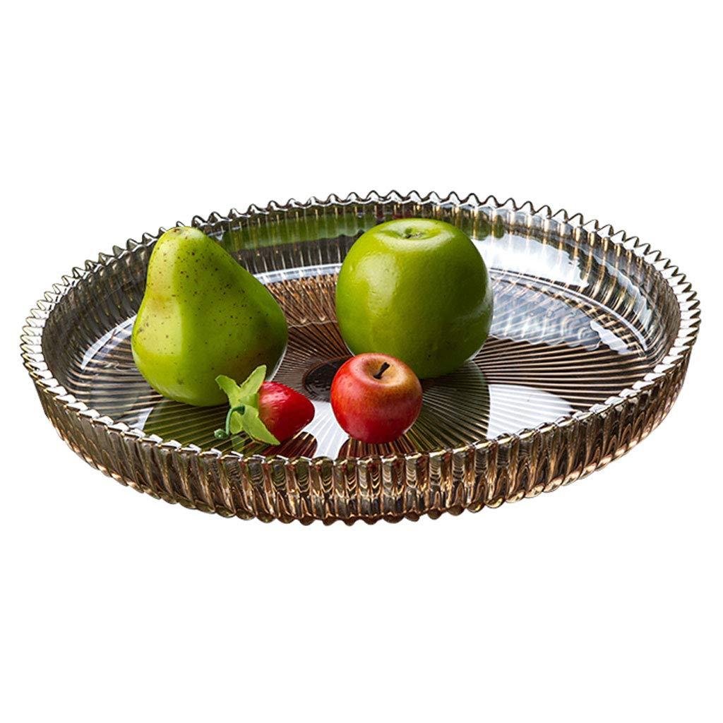 クリエイティブガラスフルーツ皿フルーツバスケットプレートフルーツボウルフルーツラックキッチンリビングルームの装飾 (色 : ゴールド)  ゴールド B07NPZHN12