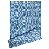 DII Contemporary Indoor/Outdoor Lightweight Reversible Fade Resistant Area Rug, Great For Patio, Deck, Backyard, Picnic, Beach, Camping, & BBQ, 4 x 6', Blue Diamond
