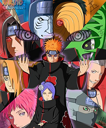Amazon.com: XXW Artwork Naruto Akatsuki Poster Uzumaki Naruto/Uchiha Sasuke/ Naruto Shippuden Prints Wall Decor Wallpaper: Home & Kitchen