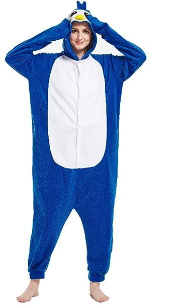 YOGLY Pijama para Adultos Pijama Animal Invierno Entero de Franela Unisex Pijama Mono Animal Disfraz para