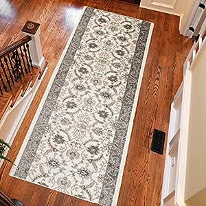 Alfombra de pasillo oriental colecci n dubai color gris - Amazon alfombras pasillo ...