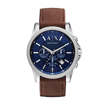 Image Unavailable. Image not available for. Color  Armani Exchange Men s  AX2501 Brown Leather Watch 7446f3a24c6b5