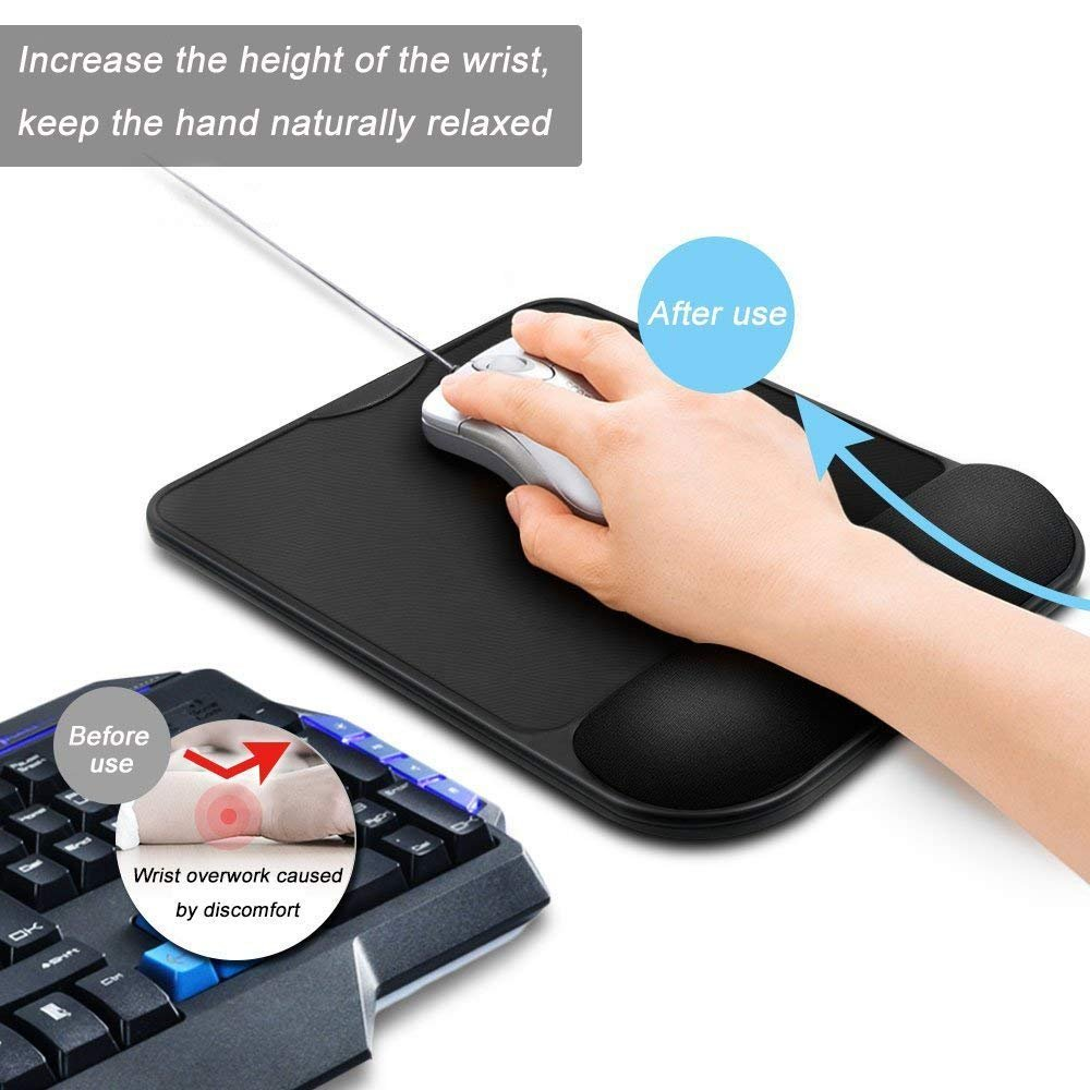 Antiscivolo Mouse Pad con Supporto Polso Riposo Tappetino per Gaming PC Laptop MAC UFFICIO