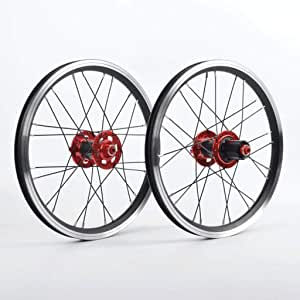 MZPWJD BMX Juego Ruedas Bicicleta 16 Pulgadas 24 Radios Rueda Delantera Y Trasera Bicicleta Plegable Freno Llanta Buje Fibra Carbono Volante Cassette 7/8/9/10/11 Velocidades 1210g: Amazon.es: Deportes y aire libre