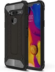 DEVMO Phone Case Compatible with LG G8 ThinQ Hard Plastic Shell Case/Shockproof Hard Bumper/Protective Cover Black LMG820QM7/LM-G820UMB/LMG820UM0/LMG820UM1/LMG820UM2/LM-G820N/LM-G820