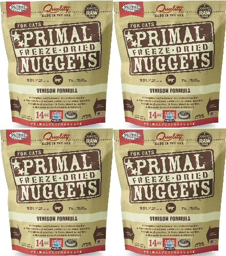 Primal Freeze-Dried Nuggets Venison Formula for Cats 56oz (4 x 14oz) by Primal