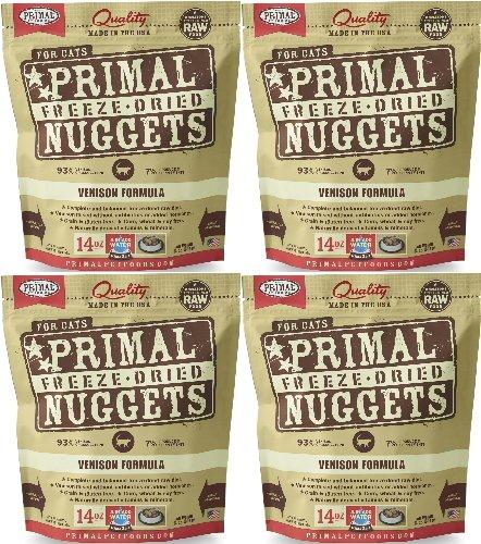 Primal Freeze-Dried Nuggets Venison Formula for Cats 56oz (4 x 14oz)