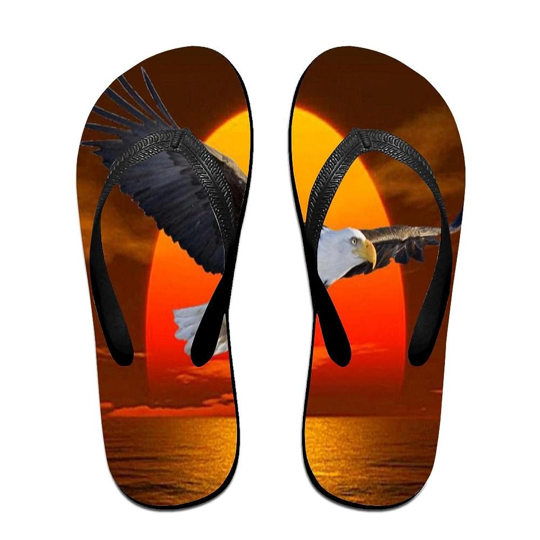 Unisex Non-slip Flip Flops Eagle Fly Sunset Cool Beach Slippers Sandal