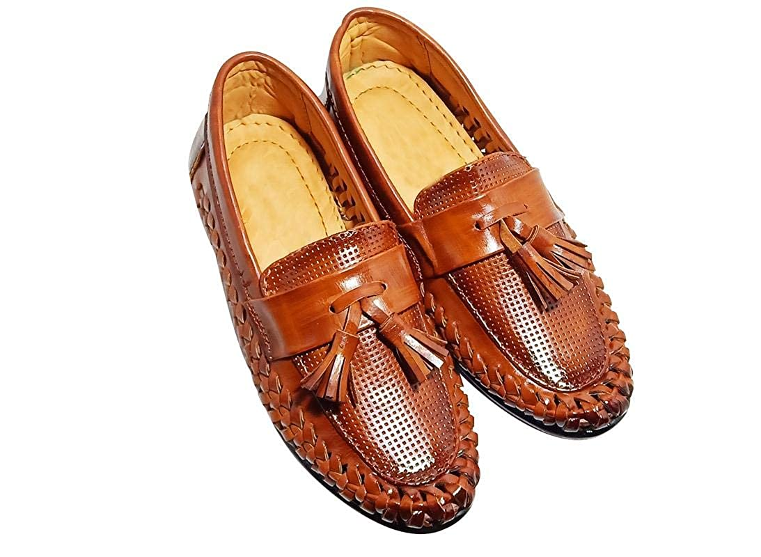 Buy FOOTONREST Boys Latest Brown Color Outdoor Formal Casual Ethnic Daily  Use Kids Loafers Shoes 3 Year to 11 Years Kids   Super Comfortable Loafer  Shoes for Boys at Amazon.in