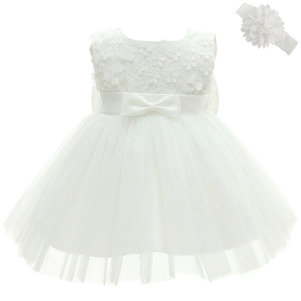 Coozy Baby Girl Dress Christening Baptism Party Formal Dress Toddler
