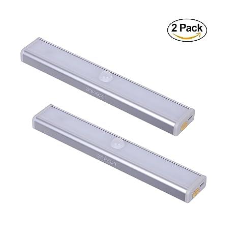 LOSMILE Recargable Luz Armario con Interruptor, Lámpara USB LED Barra de Luz LED Nocturna Inalámbrica