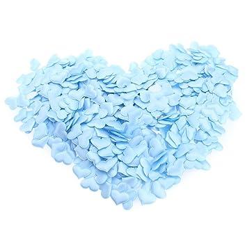 LIUYUNE,Accesorios de boda 1000pcs acolchado fieltro brillo flor de algodón corazón tela apliques(color:AZUL): Amazon.es: Hogar