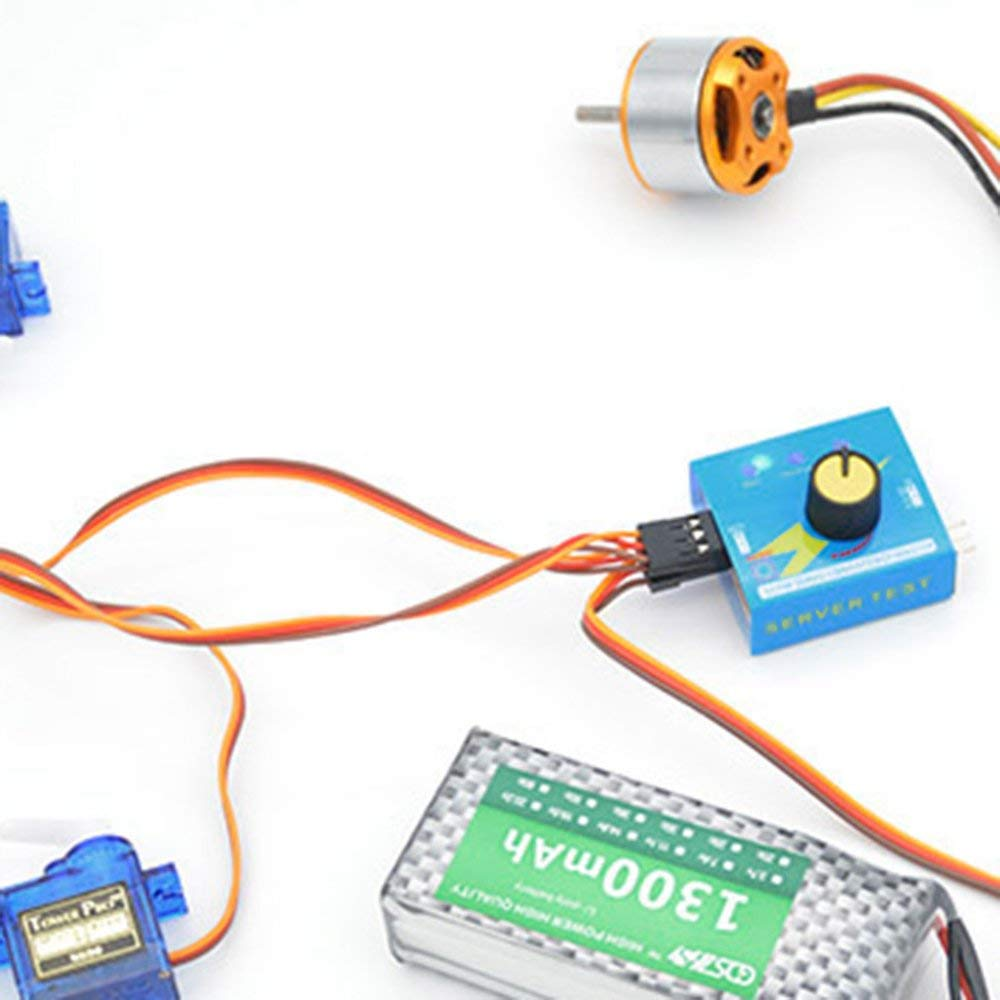 HuldaqueenCA Profrssional Multi Servo Tester 3CH ECS Consistency Speed Controler Power Channels CCPM Meter Master Checker