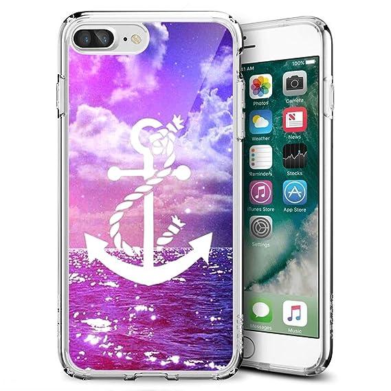 official photos 058b7 585c8 Amazon.com: iPhone 7 Plus, iPhone 8 Plus Clear Crystal Phone Case ...