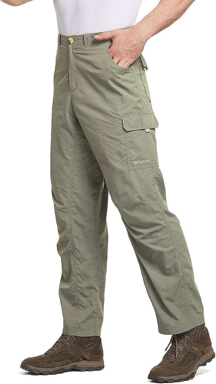 BALEAF Mens Hiking Cargo Pants UPF 50 Quick Dry Lightweight Outdoor Pants