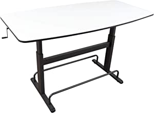"""Crank Height Adjustable Standing Conference Table 
