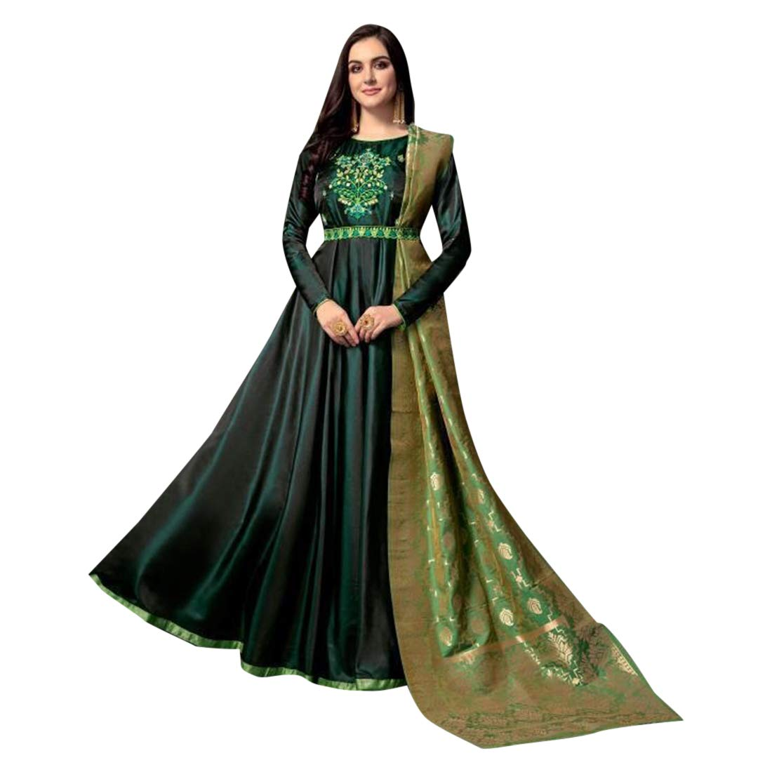 Green Shady Salwar Kameez Suit Anarkali Abaya Muslim Collection 7389
